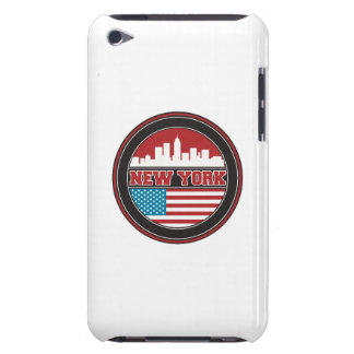 New York Skyline | United States Flag Barely There iPod Cover