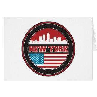 New York Skyline | United States Flag Card