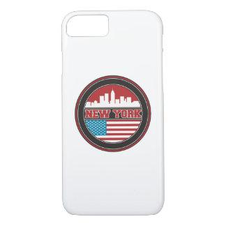 New York Skyline | United States Flag Case-Mate iPhone Case