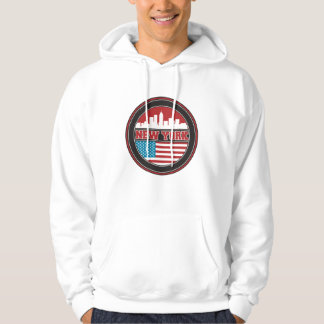 New York Skyline | United States Flag Hoodie