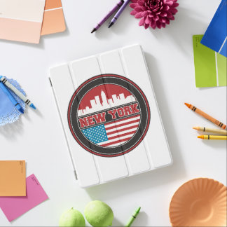 New York Skyline | United States Flag iPad Cover