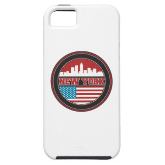 New York Skyline | United States Flag iPhone 5 Case