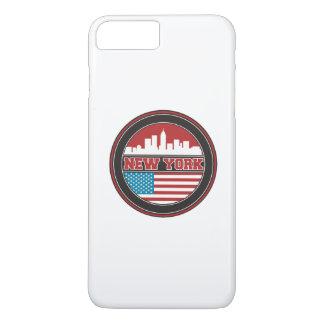 New York Skyline | United States Flag iPhone 8 Plus/7 Plus Case