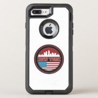 New York Skyline | United States Flag OtterBox Defender iPhone 8 Plus/7 Plus Case