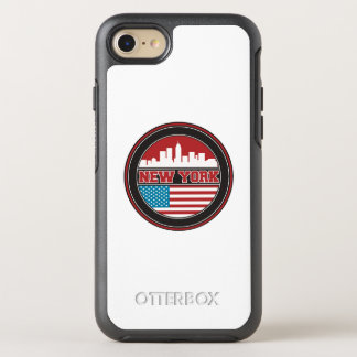 New York Skyline | United States Flag OtterBox Symmetry iPhone 8/7 Case