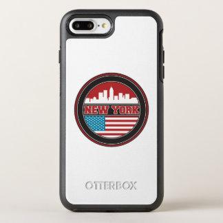 New York Skyline | United States Flag OtterBox Symmetry iPhone 8 Plus/7 Plus Case