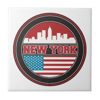 New York Skyline | United States Flag Tile
