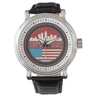 New York Skyline | United States Flag Watch