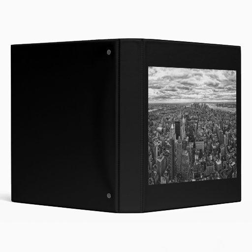 New York Skyline Vinyl Binder