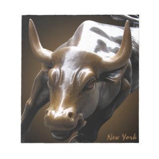 New York Souvenir Notepad Bull Statue Gifts