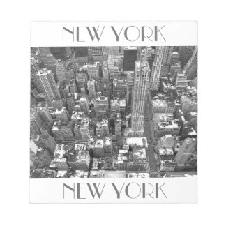 New York Souvenir Notepad Empire State View Gift