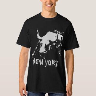 New York Souvenir Tall T-shirt NYC Bull Shirt