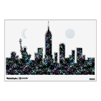 New York Sparkling Skyline Wall Decal
