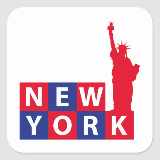 New York Square Sticker