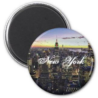 New York Standard, 2¼ Inch Round Magnet