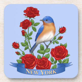 New York State Bird and Flower Coaster