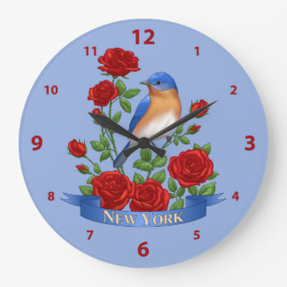 New York State Bird and Flower Large Clock