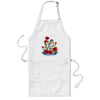 New York State Bird and Flower Long Apron