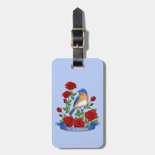 New York State Bird and Flower Luggage Tag
