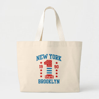 New york state Brooklyn Large Tote Bag