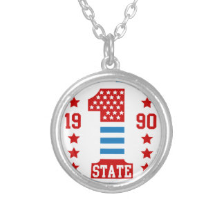 New york state Brooklyn Silver Plated Necklace