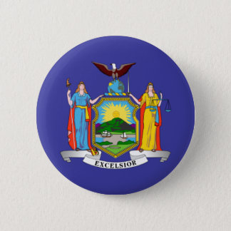New York state flag 2 Inch Round Button