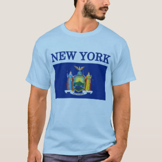 New York State Flag Blue T-shirt