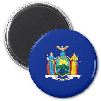 New York State Flag Design 2 Inch Round Magnet