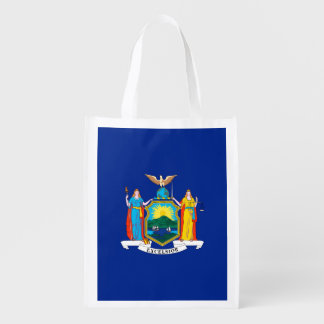 New York State Flag Design Grocery Bags