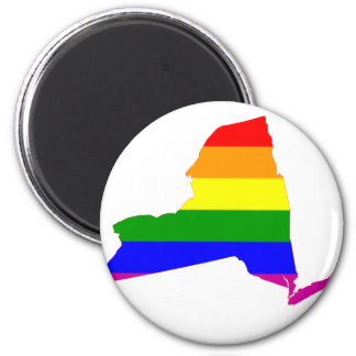 New York State Gay Pride 2 Inch Round Magnet