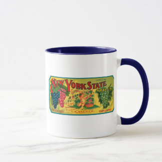 New York State Grapes Ad vintage label Mug