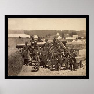 New York State Militia, Fort Corcran, VA 1861 Poster