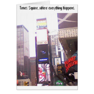 New York state of mind...Times Square. Card