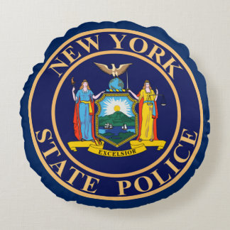 New York State Police Round Pillow