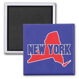 New York State Square Magnet