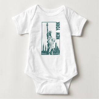 New York-Statue of Liberty Baby Bodysuit