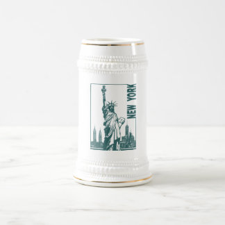 New York-Statue of Liberty Beer Stein