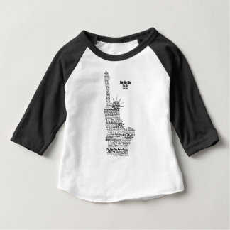 New York Statue Of Liberty Contoured in Words Baby T-Shirt
