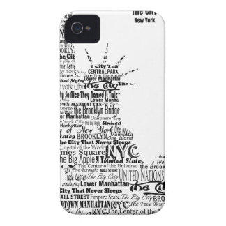 New York Statue Of Liberty Contoured in Words iPhone 4 Case-Mate Case