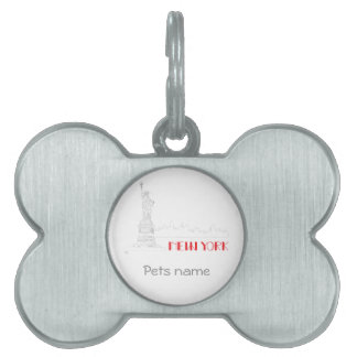 New-York, Statue-of-Liberty Cool Pet ID Tags
