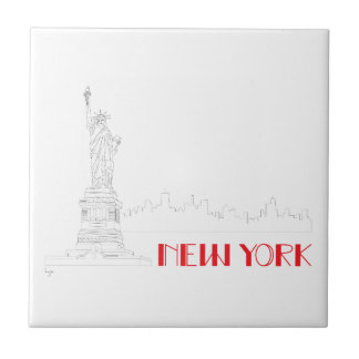 New-York, Statue-of-Liberty Cool Tile
