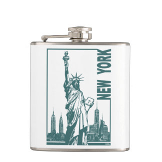 New York-Statue of Liberty Hip Flask