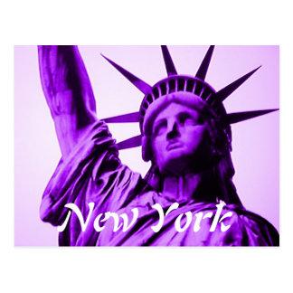 New York statue of liberty postcard
