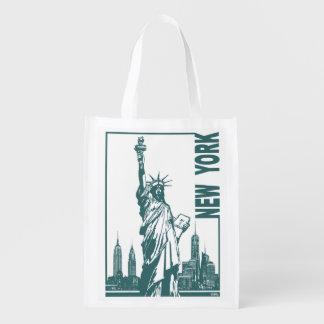 New York-Statue of Liberty Reusable Grocery Bag
