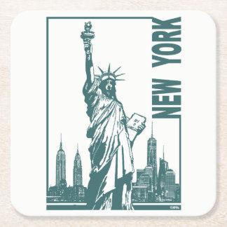 New York-Statue of Liberty Square Paper Coaster