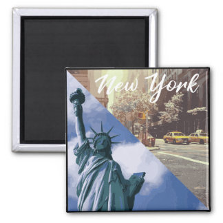 New York Statue of Liberty Taxi Magnet