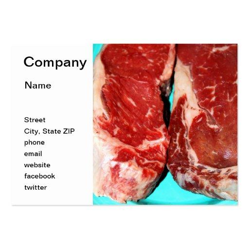 New York Steak Raw Business Card Template