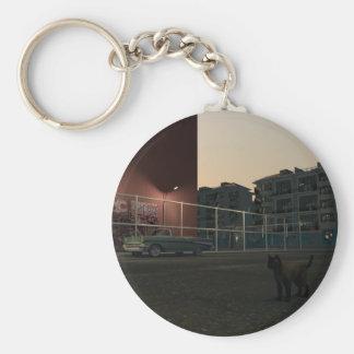 New York Street AT daybreak Basic Round Button Keychain