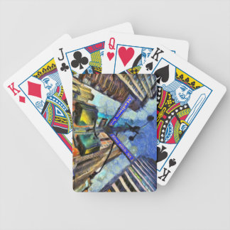 New York Street Sign Van Gogh Bicycle Playing Cards