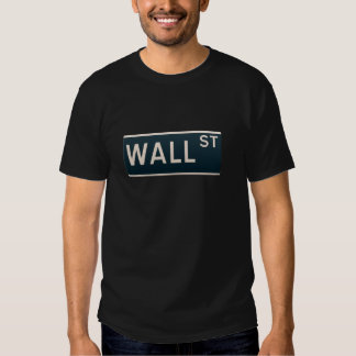 New York street sign - Wall Street. Shirts